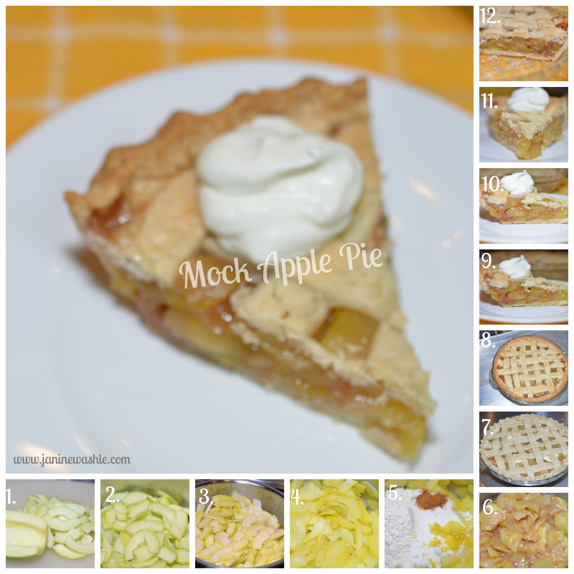 recipe: zucchini apple pie. [20]