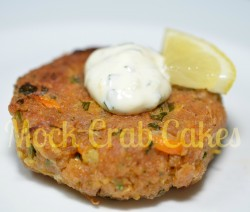 mock crab cakes signed